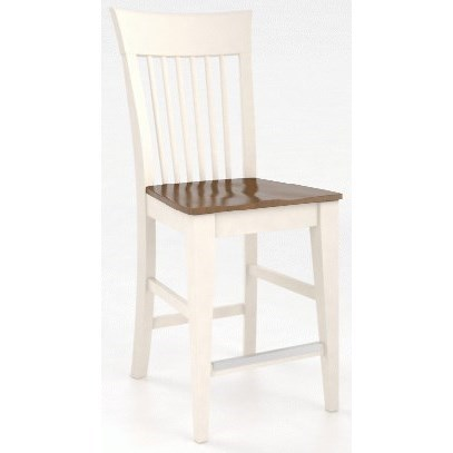 """Gourmet <b>Customizable</b> 24"""" Fixed Stool by Canadel at Dinette Depot"""
