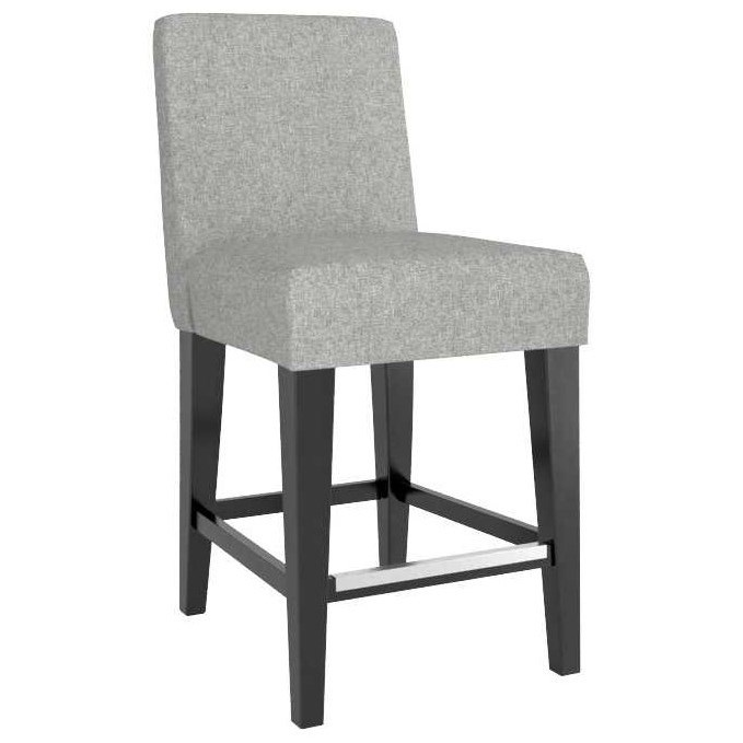 """Gourmet Customizable Upholstered 26"""" Fixed Stool by Canadel at Steger's Furniture"""