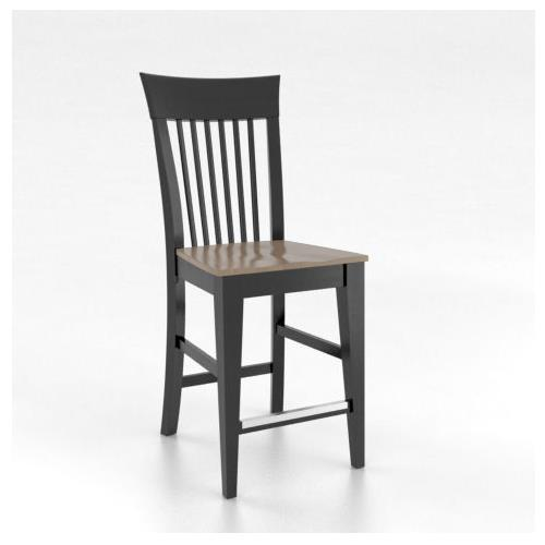 """Gourmet Customizable 24"""" Fixed Stool by Canadel at Dinette Depot"""