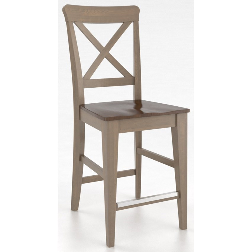 """Gourmet Customizable 24"""" Fixed Stool by Canadel at Steger's Furniture"""