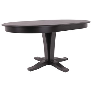 Customizable Oval Table with Pedestal