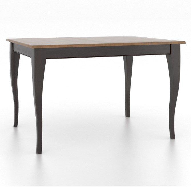 Gourmet Customizable Rectangle Table w/ Legs by Canadel at Steger's Furniture