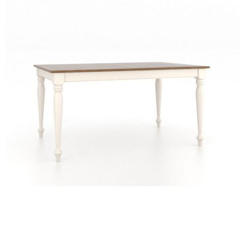 Gourmet <b>Customizable</b> Rectangle Table w/ Legs by Canadel at Dinette Depot