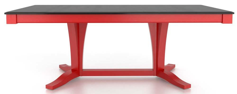 Gourmet <b>Customizable</b> Rect. Table w/ Pedestal by Canadel at Dinette Depot