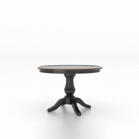 Gourmet Customizable Round Table w/ Pedestal by Canadel at Dinette Depot