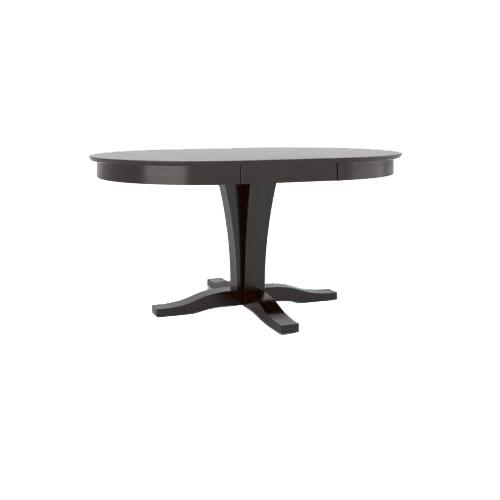 Gourmet <b>Customizable</b> Round Table with Leaf by Canadel at Dinette Depot