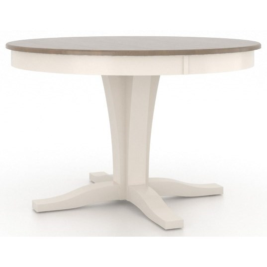 Gourmet Customizable Round Dining Table by Canadel at Dinette Depot