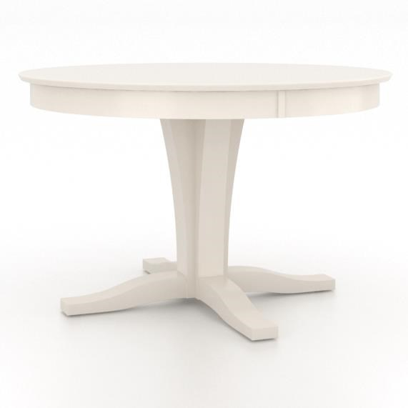Gourmet <b>Customizable</b> Round Table w/ Pedestal by Canadel at Jordan's Home Furnishings