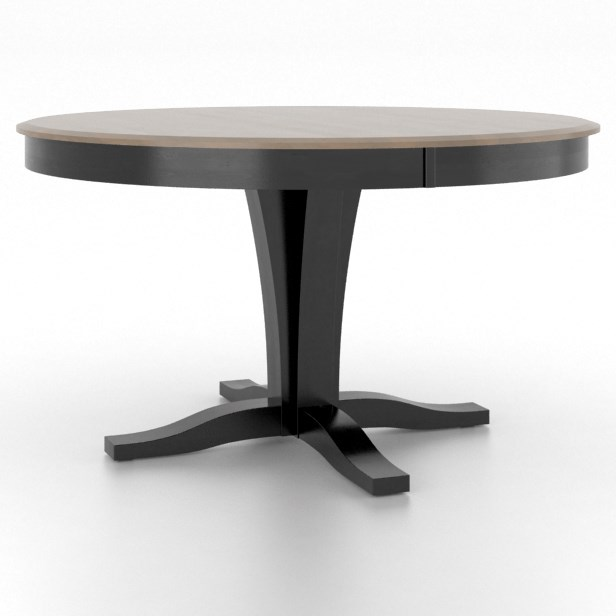 Gourmet Customizable Round Table by Canadel at Dinette Depot