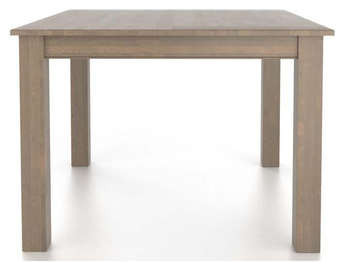 Gourmet <b>Customizable</b> Square Table with Legs by Canadel at Dinette Depot