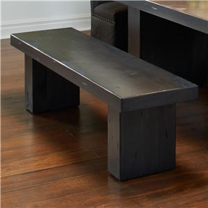 Customizable Bench with Block Legs