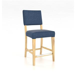 "Customizable Upholstered 24"" Fixed Stool"