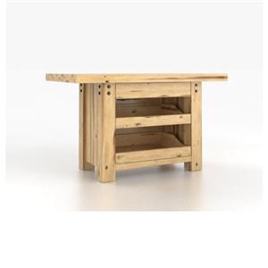 Customizable Island Table with 3 Drawers