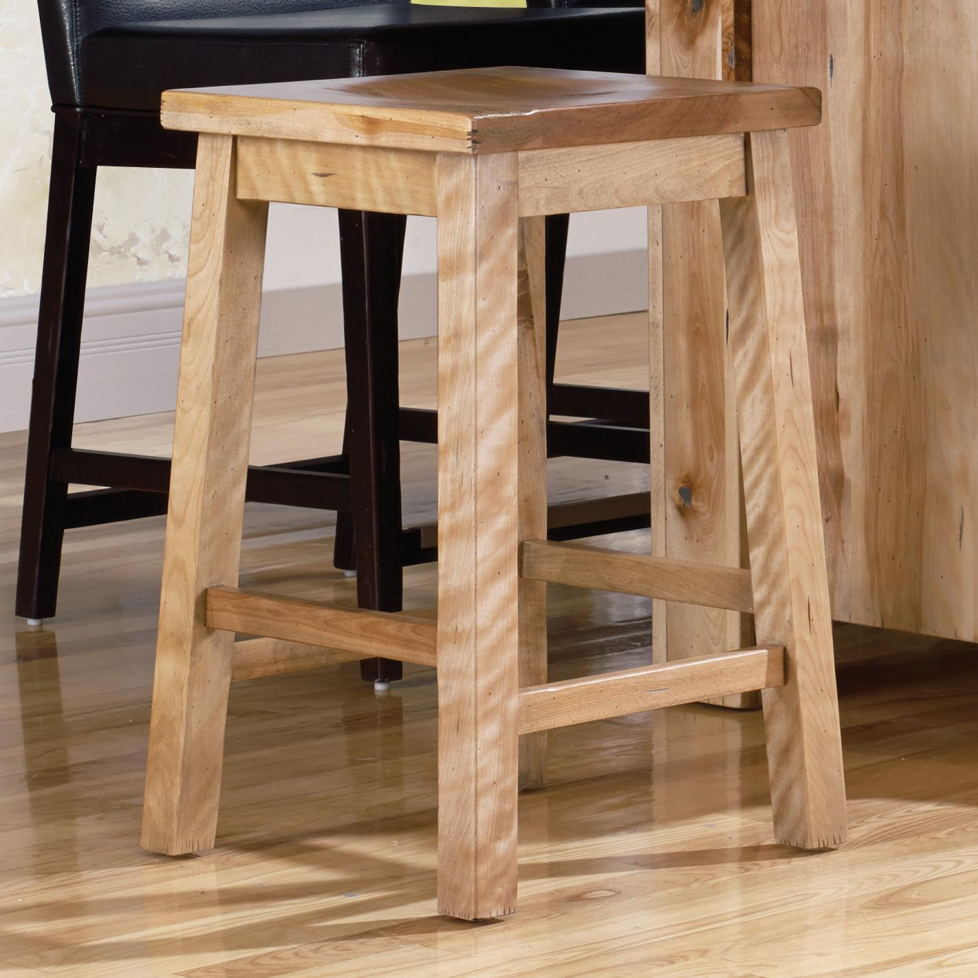 """Loft - Custom Dining Customizable 24"""" Fixed Stool by Canadel at Saugerties Furniture Mart"""