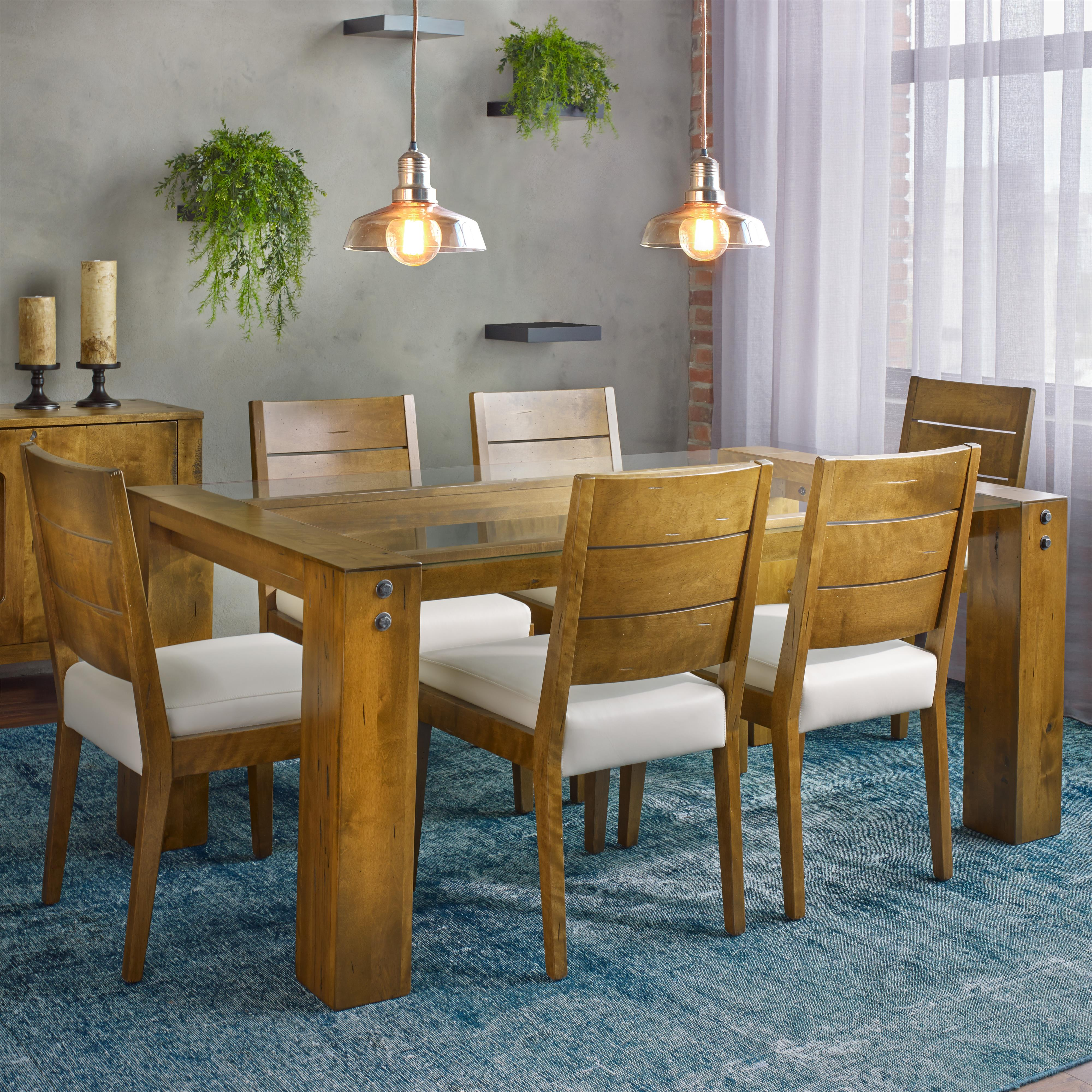 Loft - Custom Dining Customizable Rectangular Table Set by Canadel at Saugerties Furniture Mart