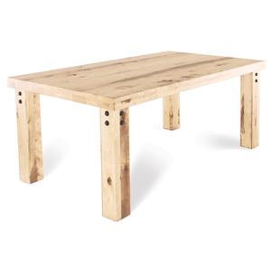Customizable Rectangular Table with Legs & Accent Rivets