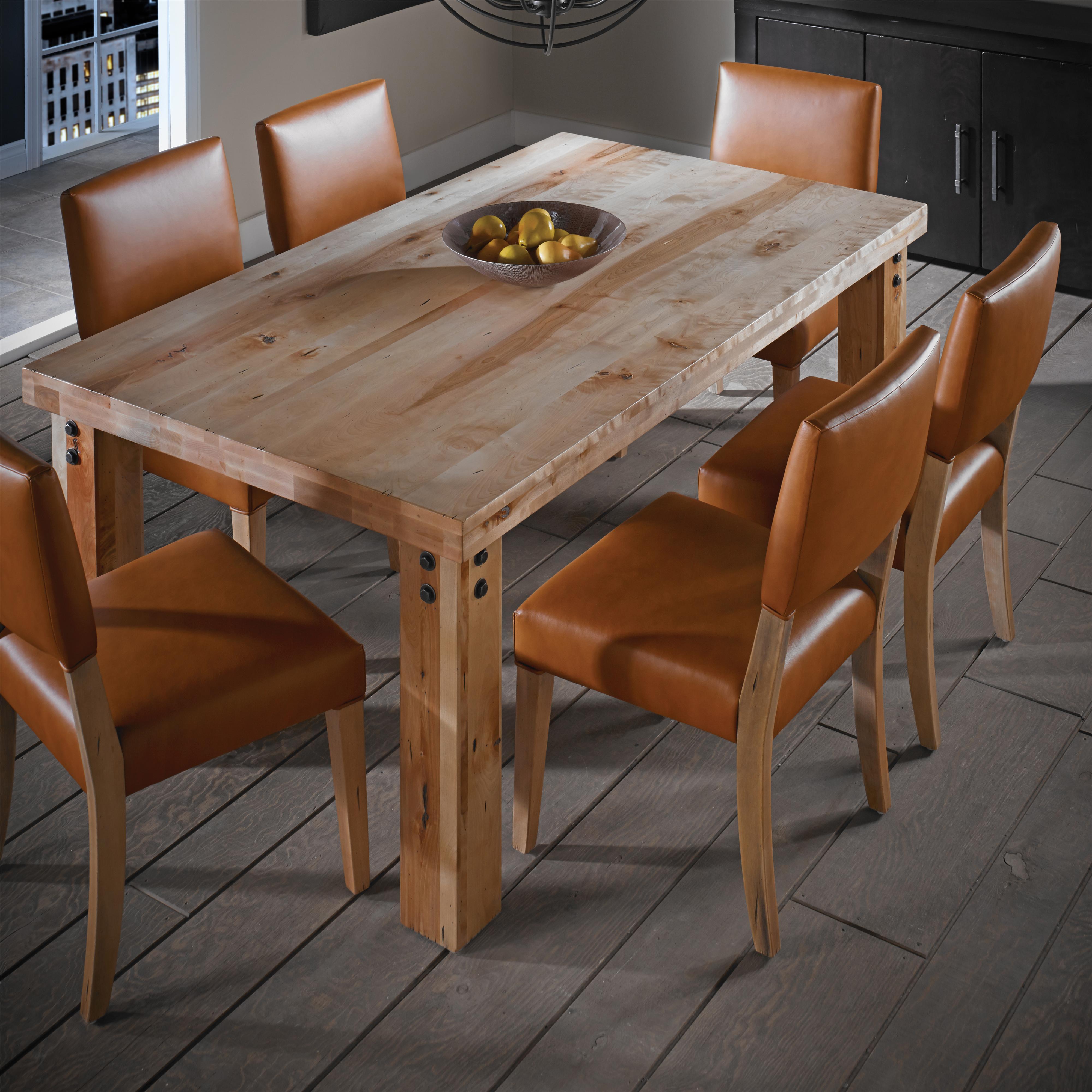 Loft - Custom Dining Customizable Rectangular Table Set by Canadel at Saugerties Furniture Mart