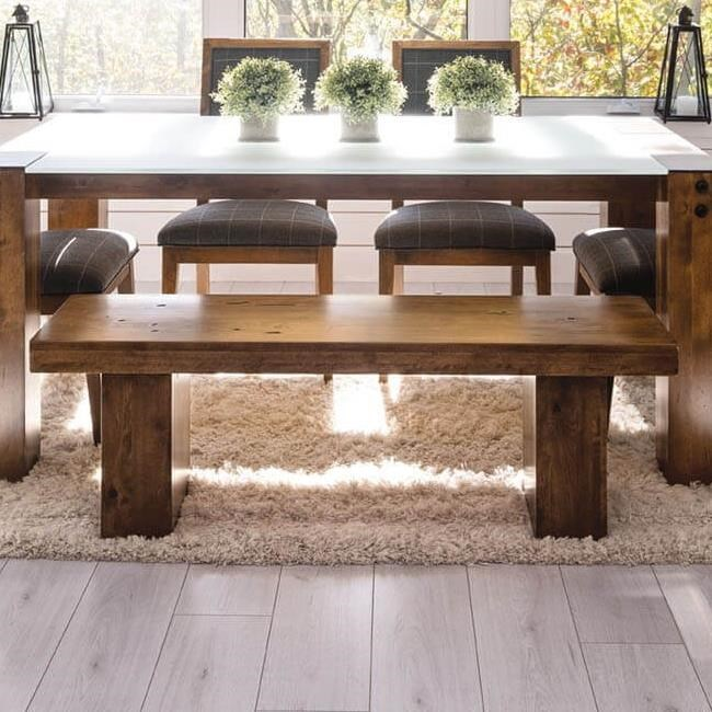 Loft - Custom Dining Customizable Bench by Canadel at Saugerties Furniture Mart