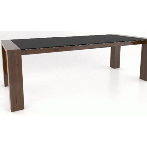 Loft - Custom Dining Customizable Dining Table by Canadel at Saugerties Furniture Mart