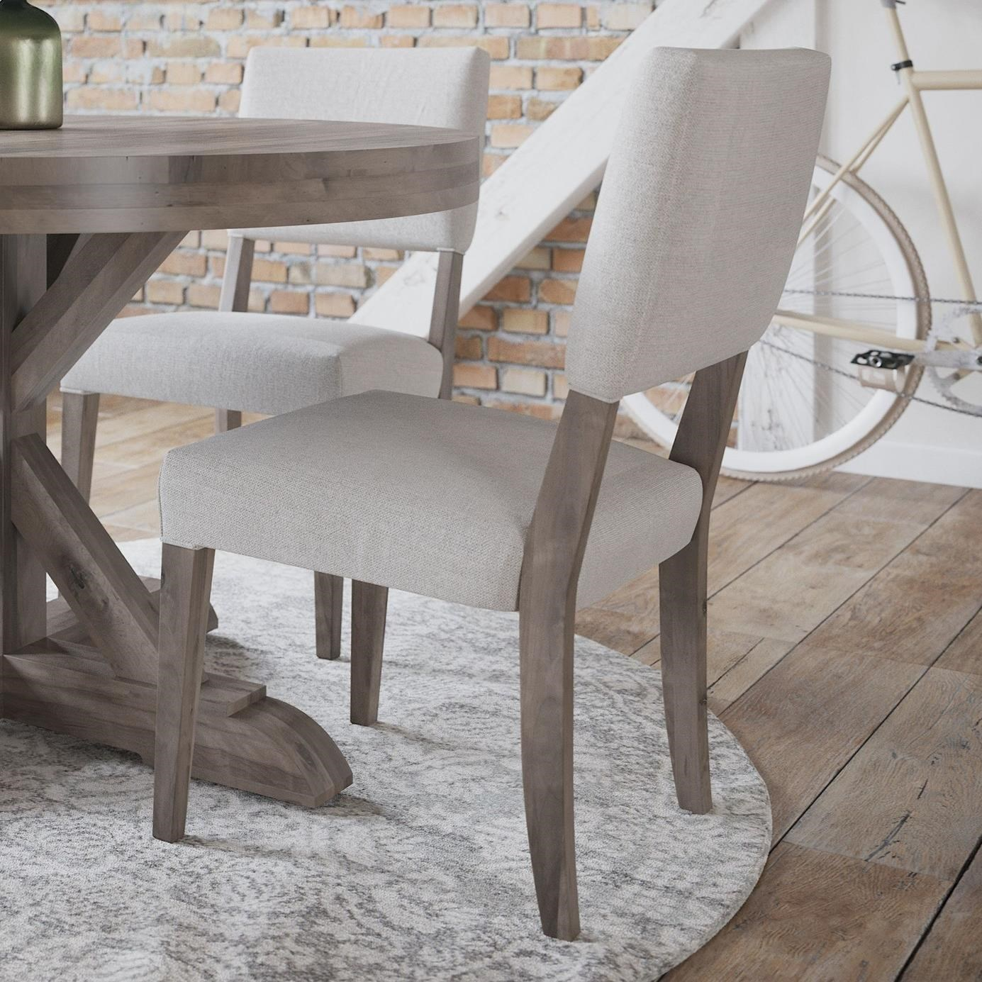 Loft - Custom Dining Customizable Upholstered Side Chair by Canadel at Dinette Depot