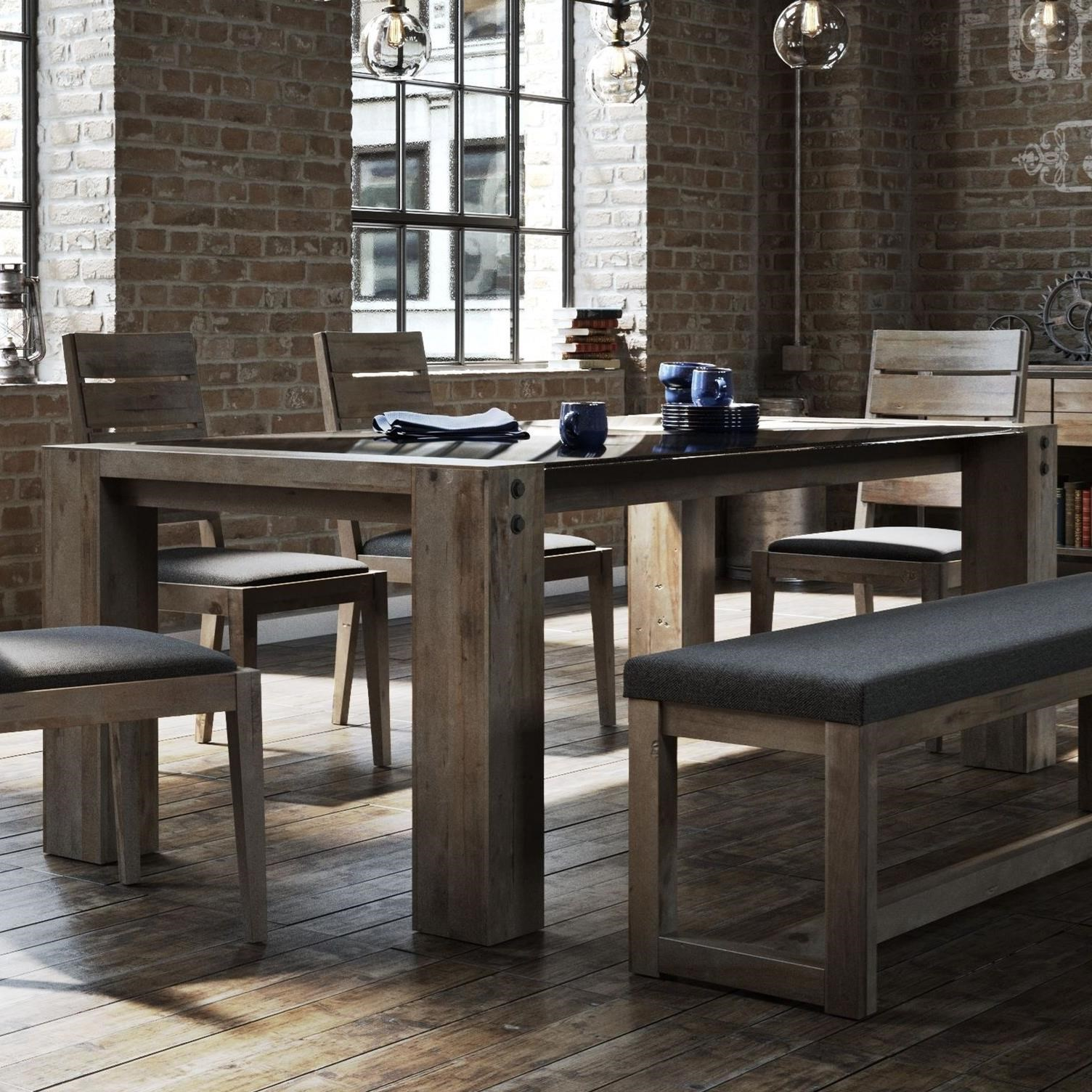 Loft - Custom Dining Customizable Glass Top Dining Table by Canadel at Dinette Depot