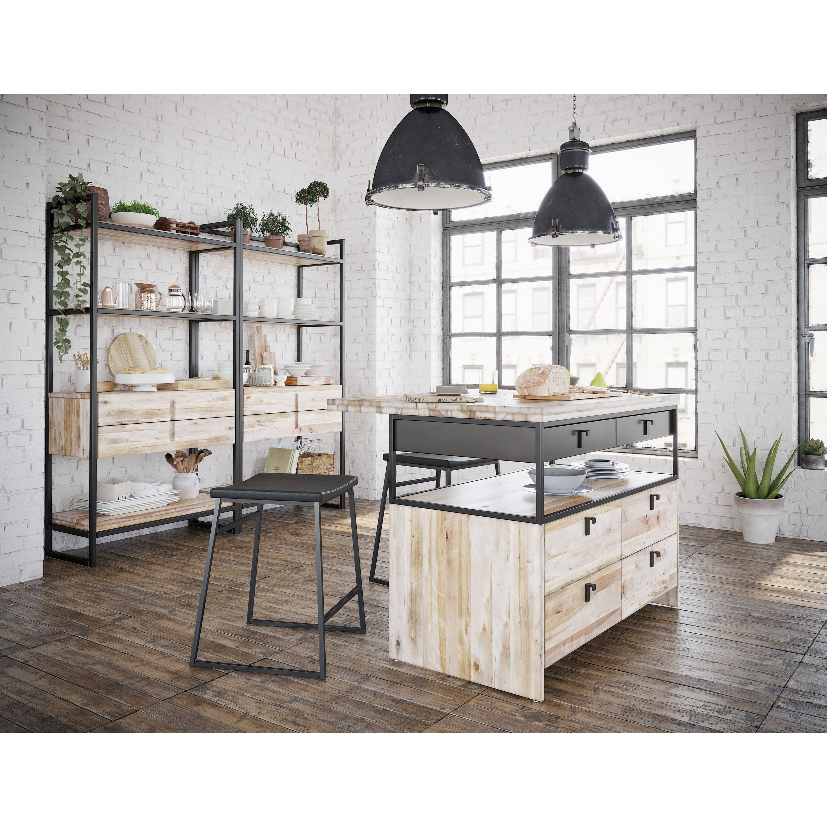 Loft - Custom Dining Dining Room Group by Canadel at Sprintz Furniture