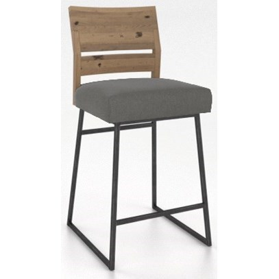 Loft - Custom Dining Customizable Metal/Wood Stool by Canadel at Dinette Depot
