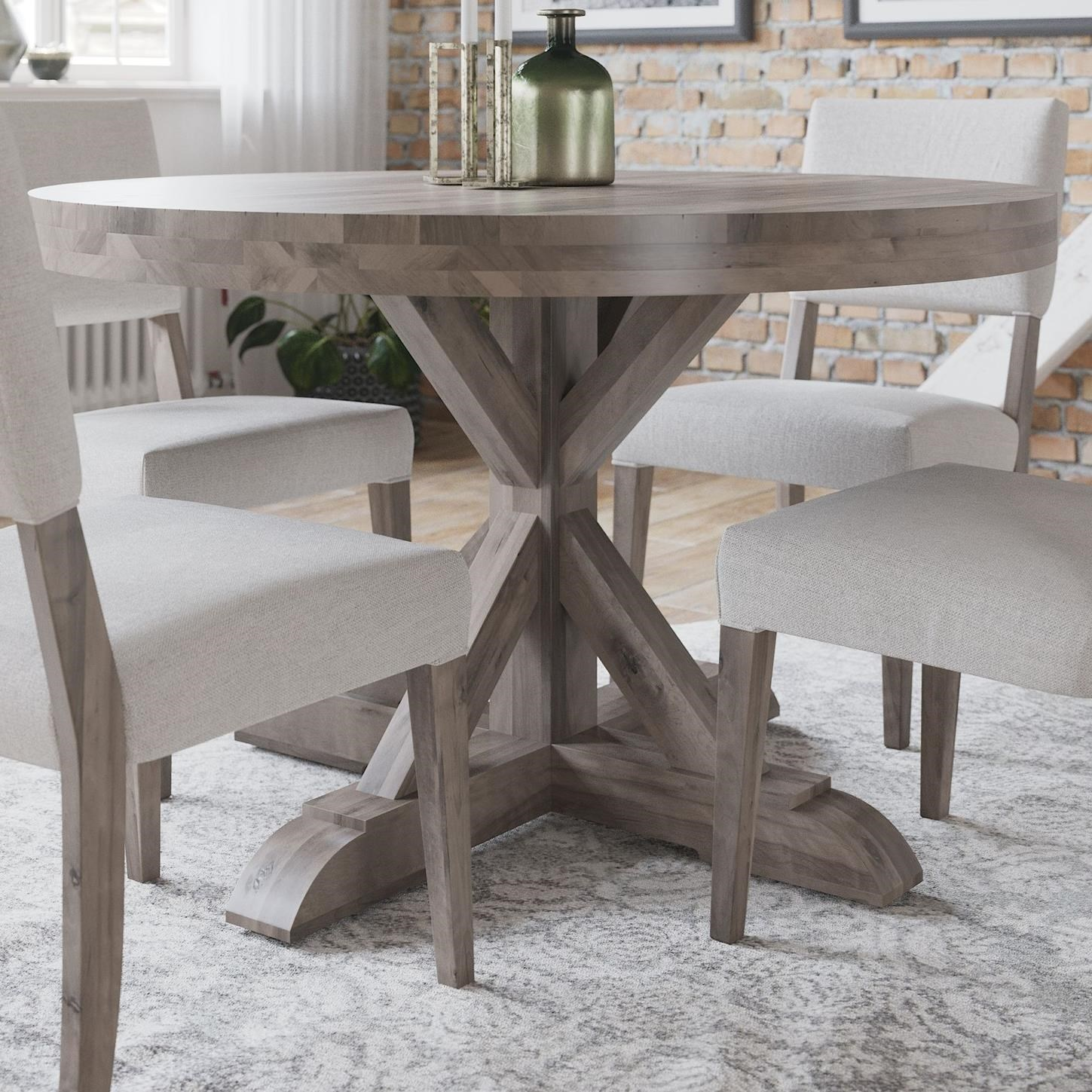 Loft - Custom Dining Customizable Round Table by Canadel at Dinette Depot
