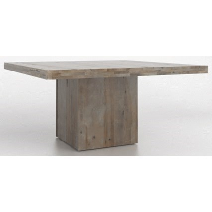 Loft - Custom Dining Customizable Square Table by Canadel at Dinette Depot
