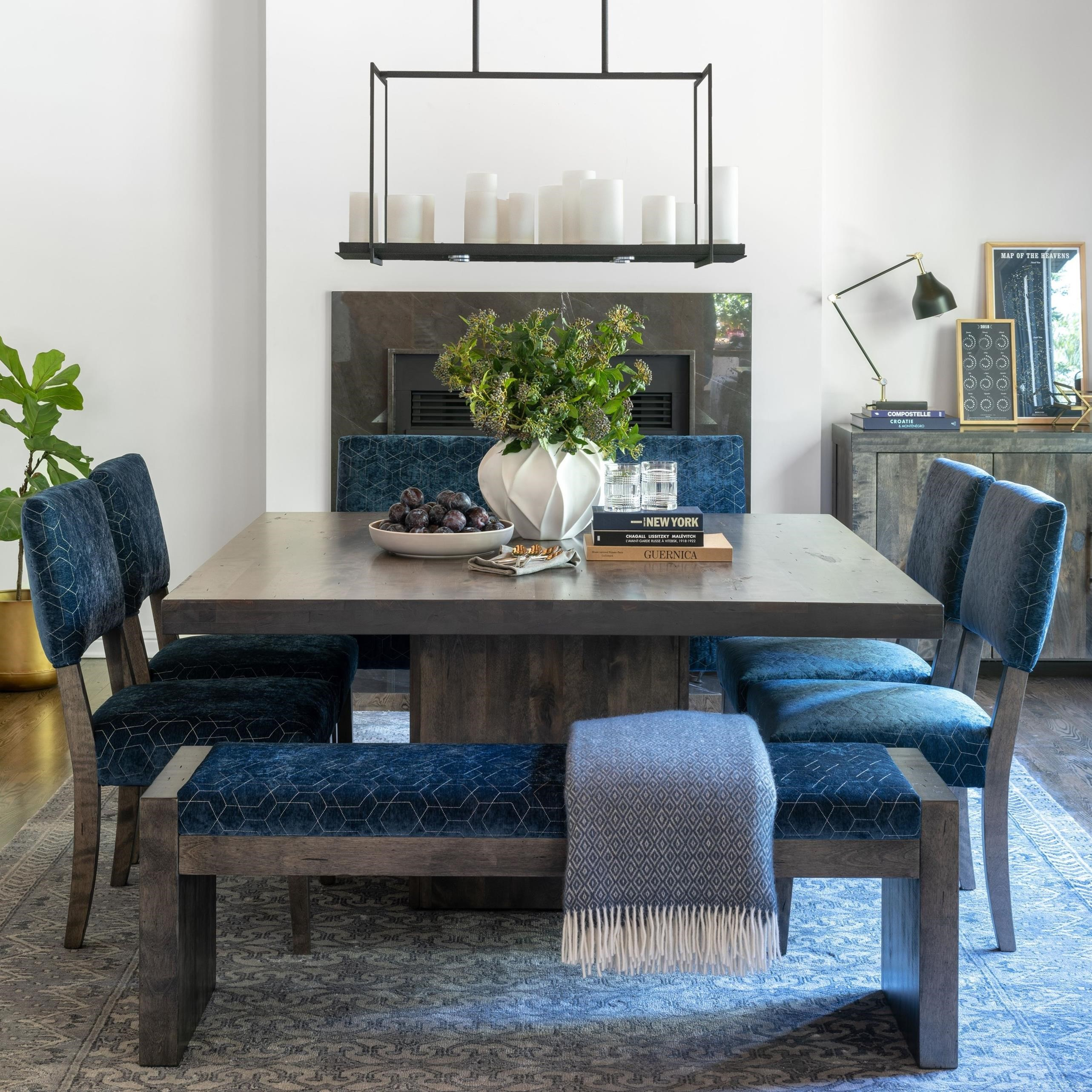 Loft - Custom Dining Customizable Table Set by Canadel at Dinette Depot