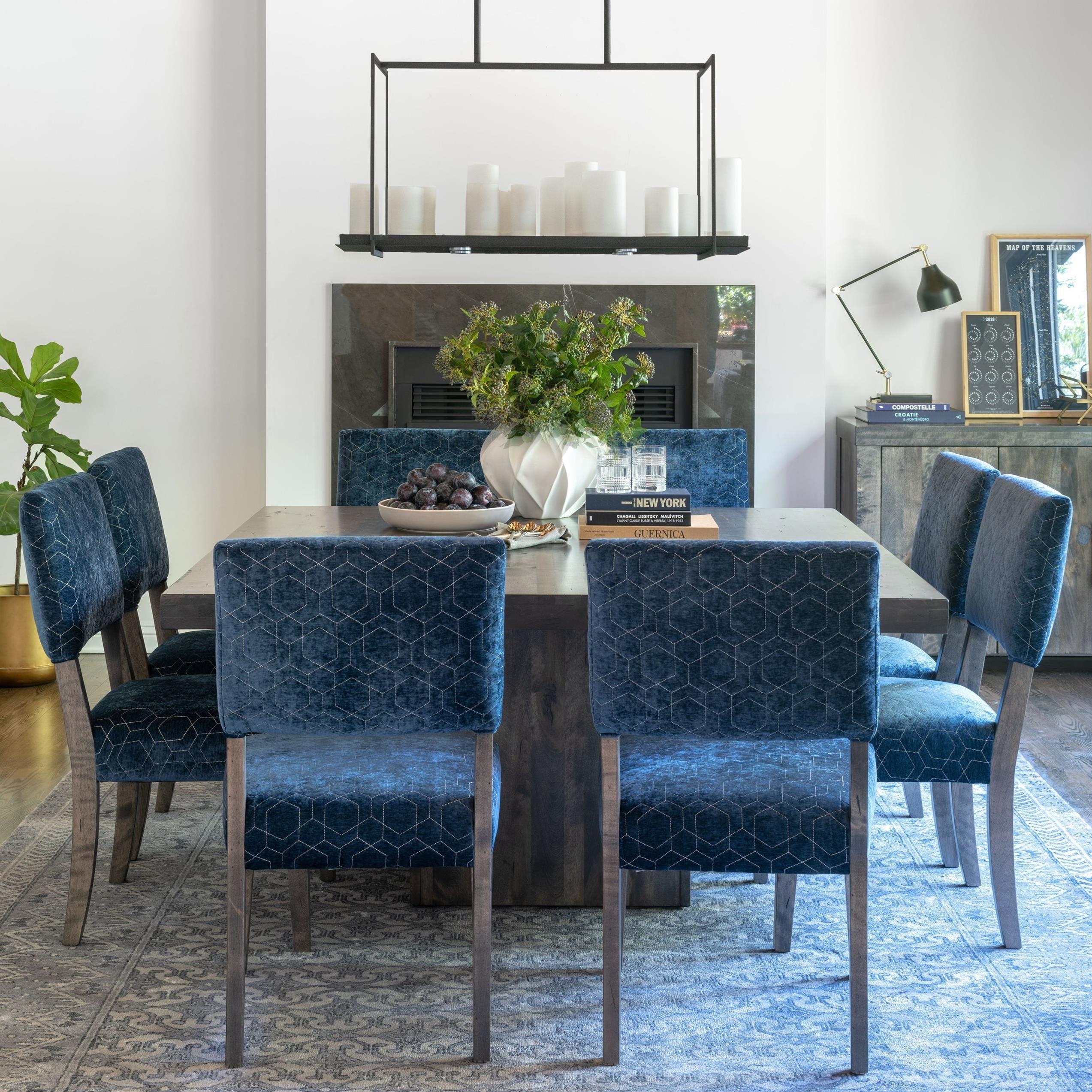 Loft - Custom Dining Customizable Table Set by Canadel at Jordan's Home Furnishings