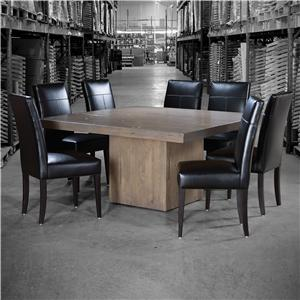 Canadel Loft - Custom Dining Customizable Square Table Set