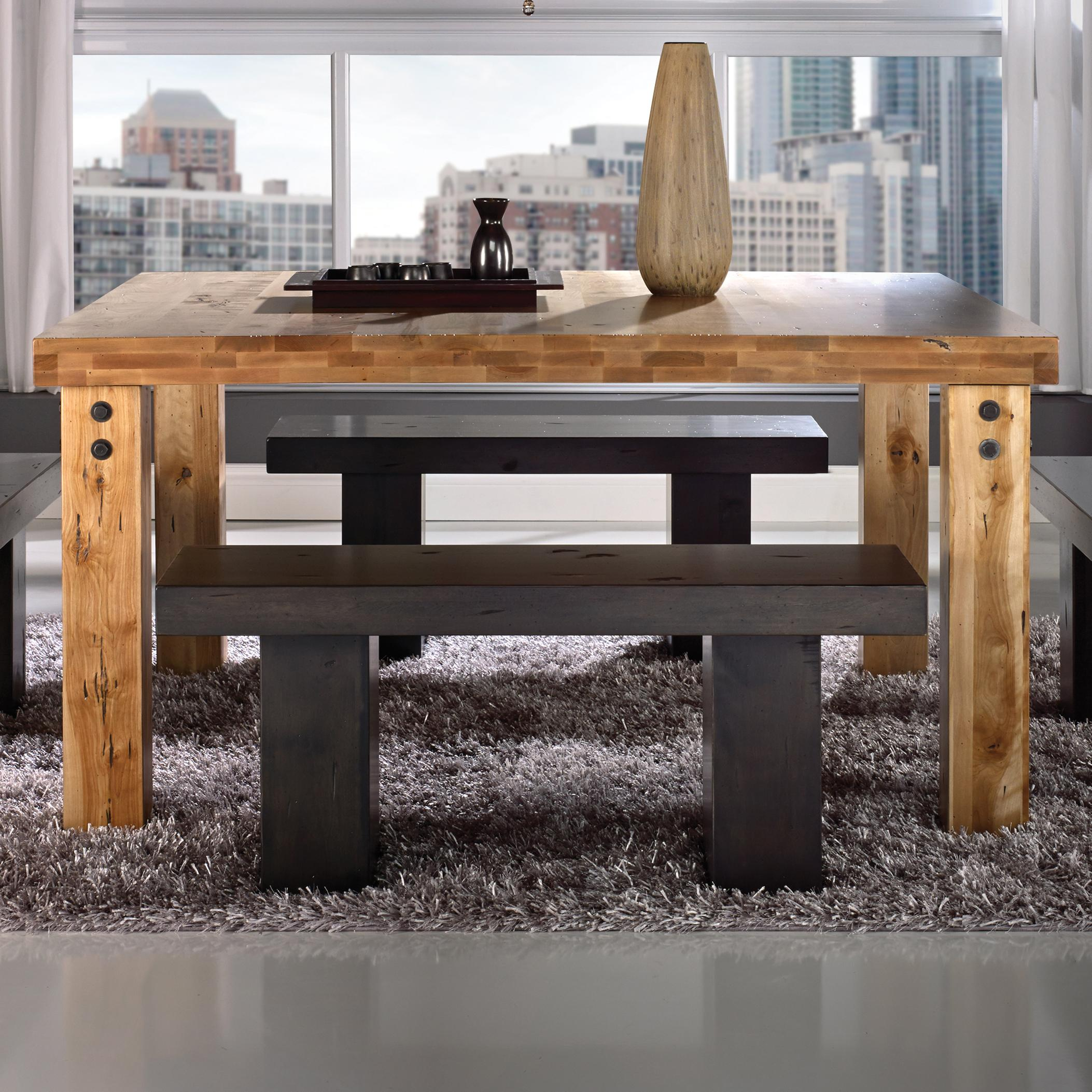 Loft - Custom Dining Customizable Square Table by Canadel at Saugerties Furniture Mart