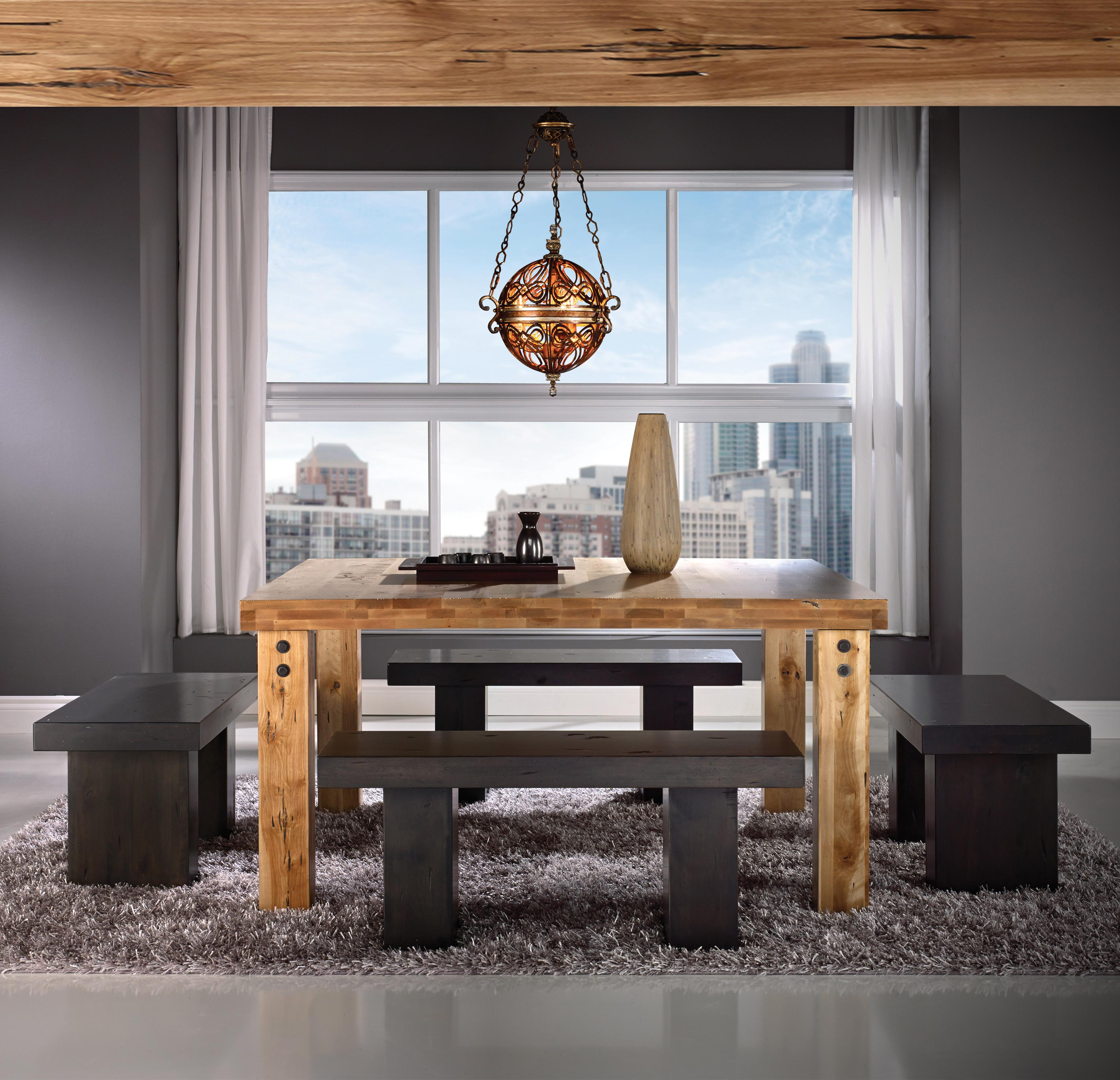Loft - Custom Dining Customizable Square Table Set by Canadel at Saugerties Furniture Mart