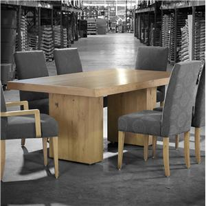 Customizable Rectangular Table with Double Pedestal Base