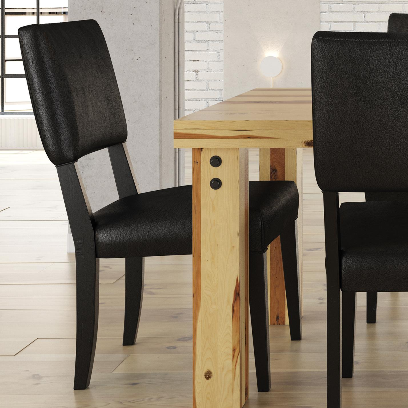 Loft - Custom Dining Customizable Upholstered Side Chair by Canadel at Williams & Kay