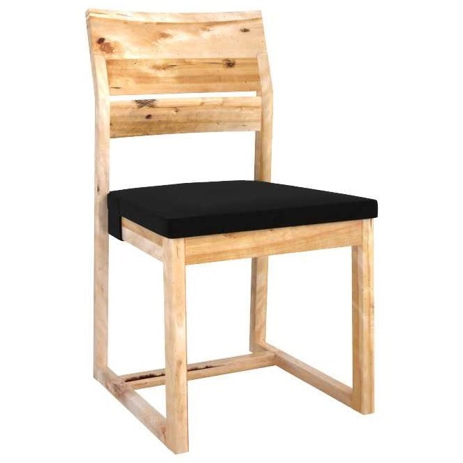 Loft Customizable Side Chair w/ Upholstered Seat by Canadel at Saugerties Furniture Mart