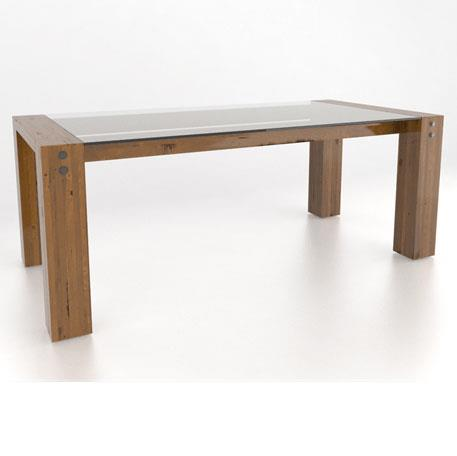 Loft <b>Customizable</b> Glass Top Dining Table by Canadel at Dinette Depot