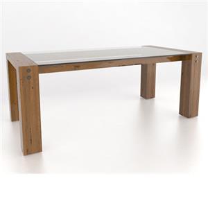 <b>Customizable</b> Glass Top Dining Table