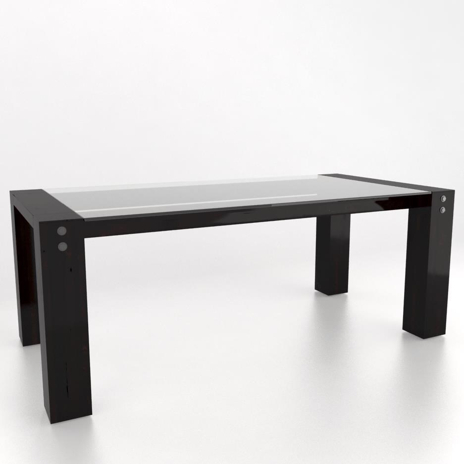 Loft Customizable Glass Top Dining Table by Canadel at Saugerties Furniture Mart
