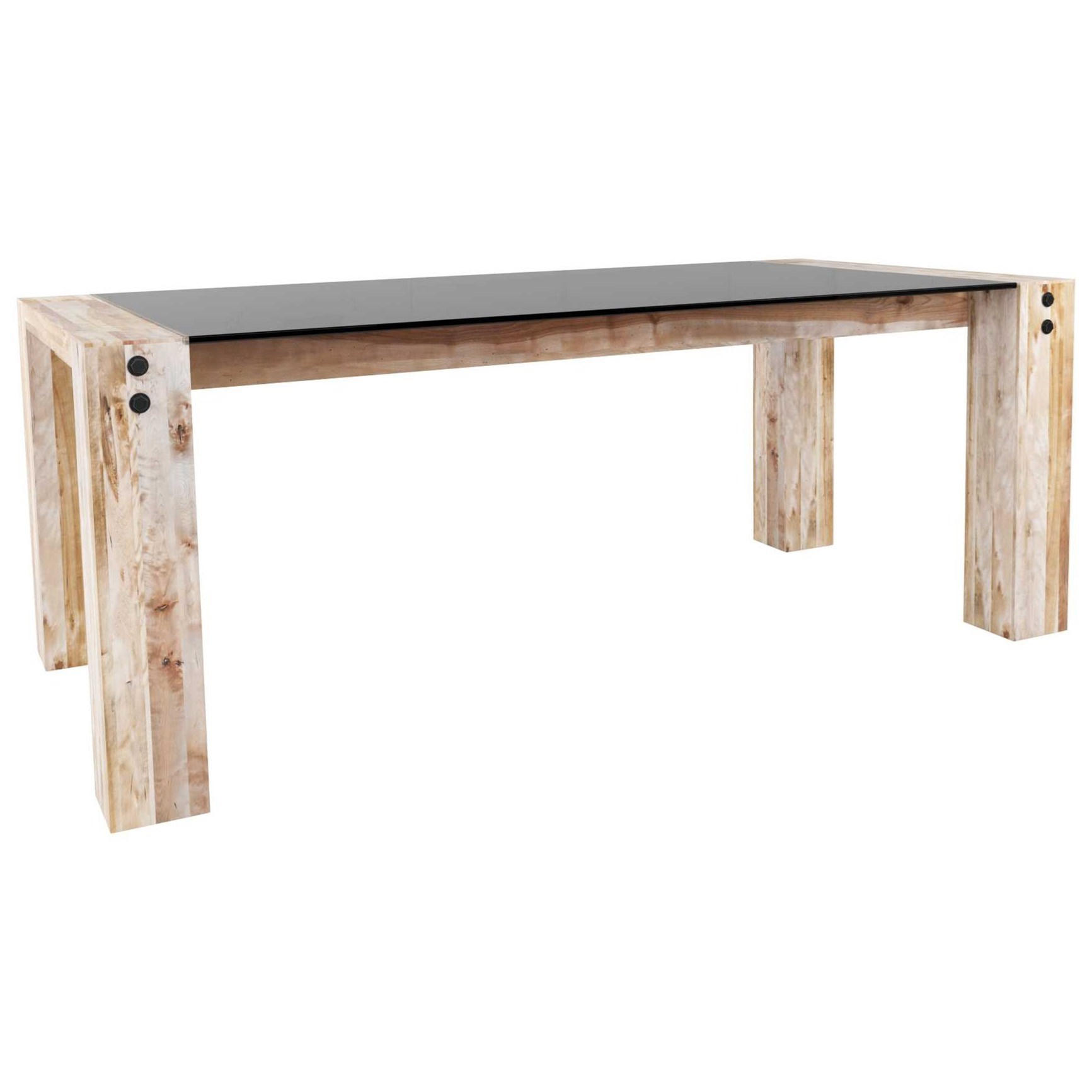 Loft Customizable Glass Top Dining Table by Canadel at Dinette Depot