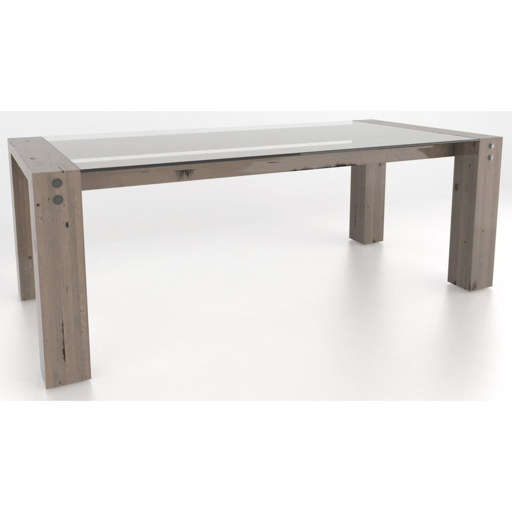 Loft Customizable Dining Table by Canadel at Dinette Depot