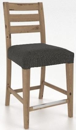 "Loft Customizable 24"" Fixed Stool by Canadel at Dinette Depot"