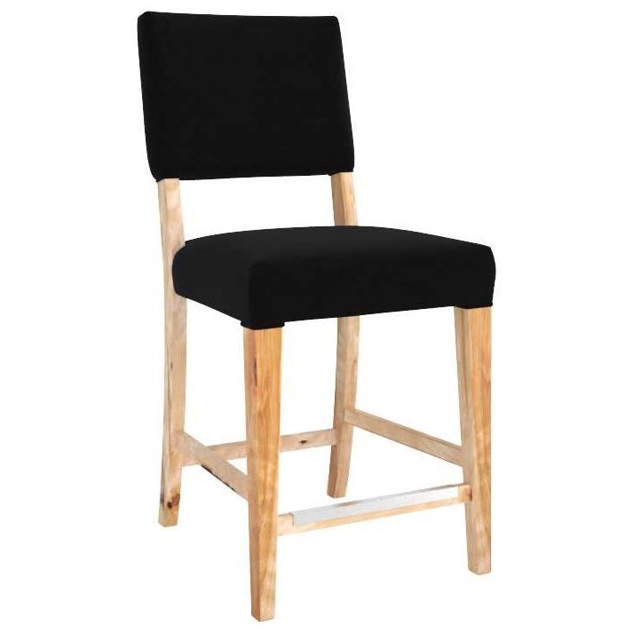 """Loft Customizable 24"""" Fixed Stool by Canadel at Saugerties Furniture Mart"""