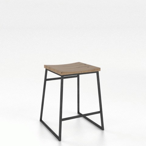 Loft Customizable Wood Fixed Stool by Canadel at Saugerties Furniture Mart