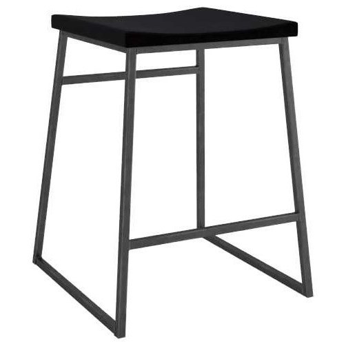 Loft Customizable Metal Stool w/ Upholstered Seat by Canadel at Jordan's Home Furnishings
