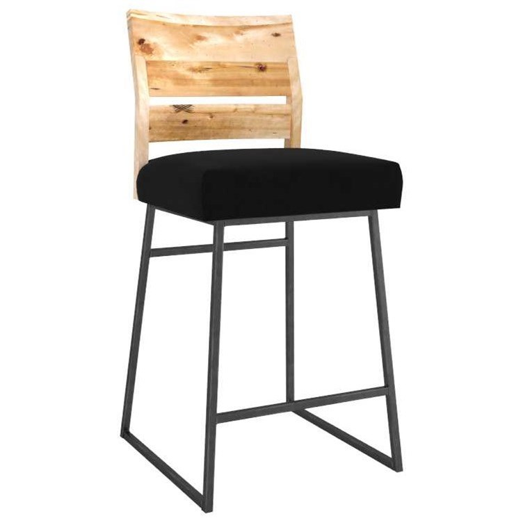 Loft Customizable Metal/Wood Stool by Canadel at Saugerties Furniture Mart