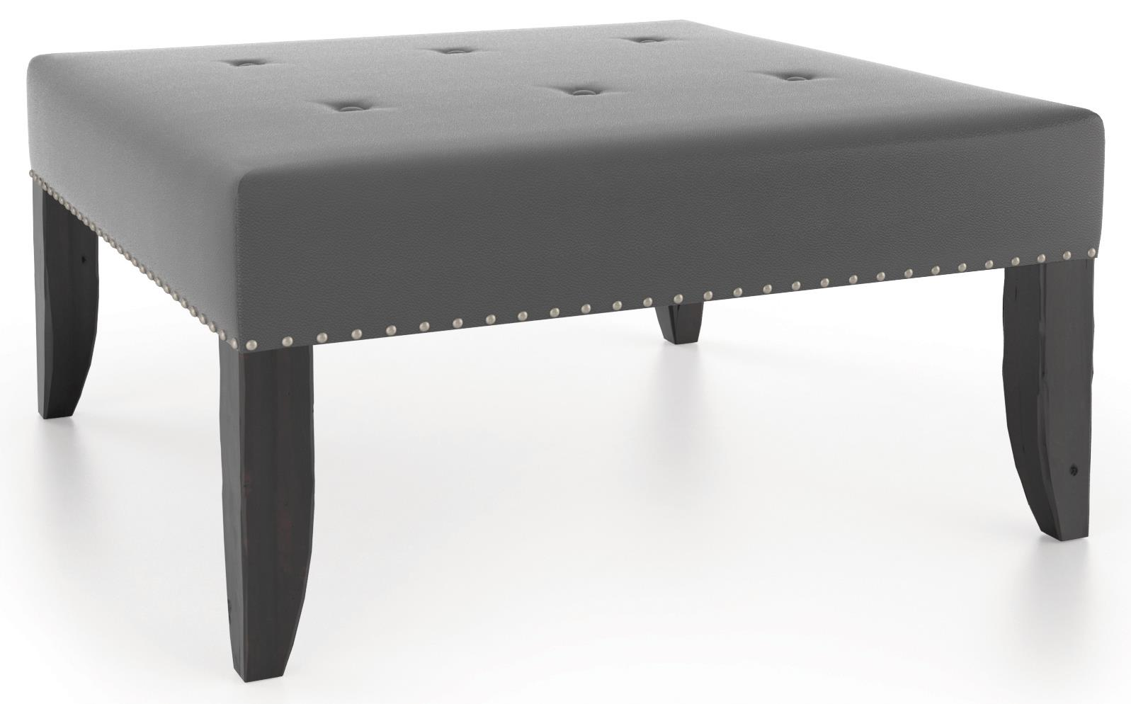 Loft - Living <b>Customizable</b> Square Ottoman by Canadel at Jacksonville Furniture Mart