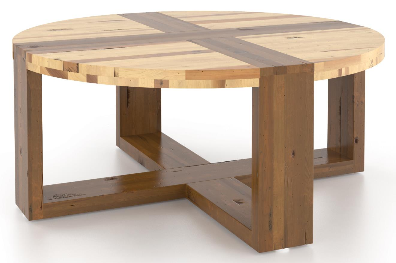 Loft - Living <b>Customizable</b> Round Coffee Table by Canadel at Saugerties Furniture Mart