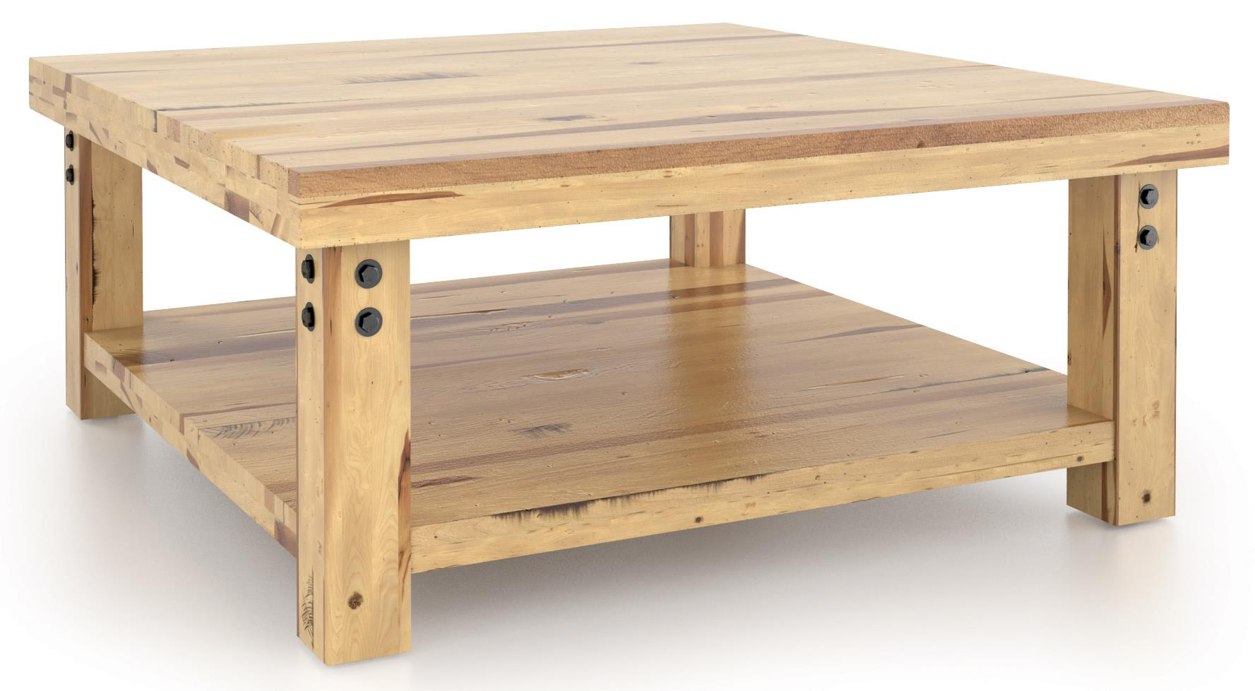 Loft - Living <b>Customizable</b> Square Coffee Table by Canadel at Saugerties Furniture Mart